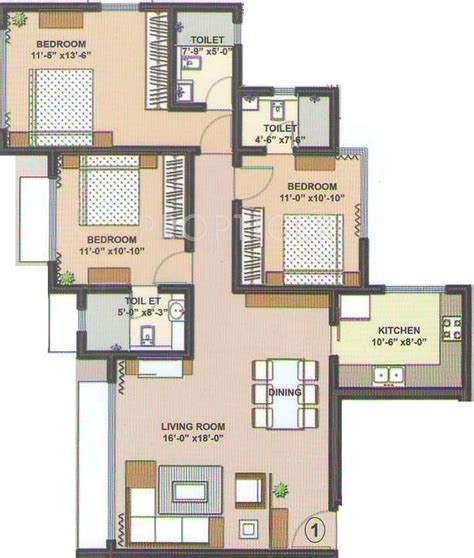 1600 sqft 3 bhk budget house design from triangle visualizer 1300 sq ft 2 bhk 2t apartment for sale in dev land housing