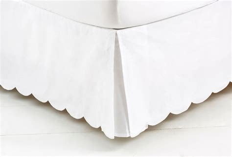 scalloped bed skirt bed scallop skirt white bedskirts from one kings lane