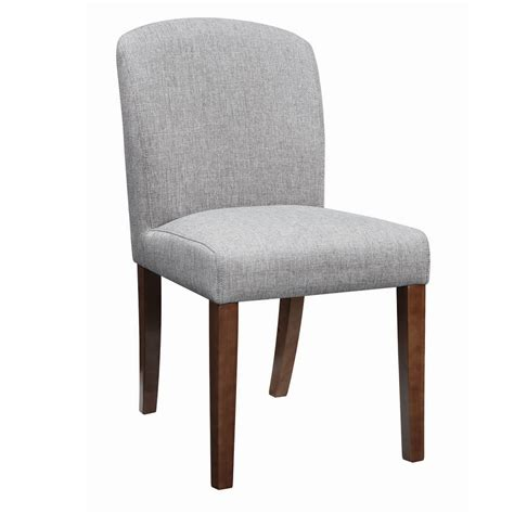 new louise set of 2 hardwood grey fabric upholstery parson