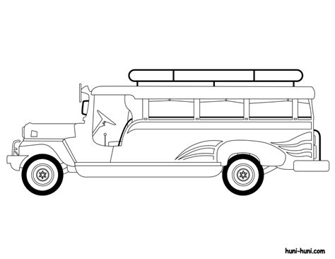 philippine jeep drawing jeepney huni huni jeepney coloring page in coloring style
