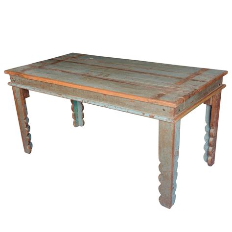 kitchen table appalachian rustic distressed reclaimed wood pastel