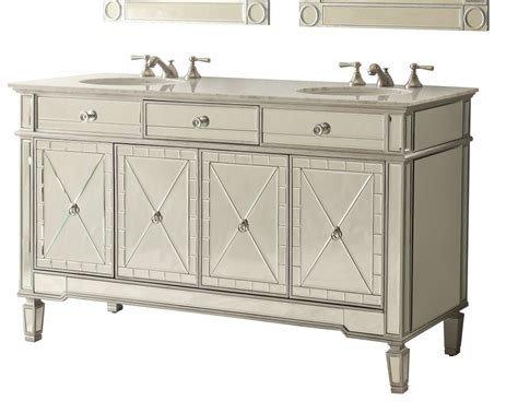 mirrored bathroom vanity with sink 60 all mirrored reflection ashlia double sink bathroom