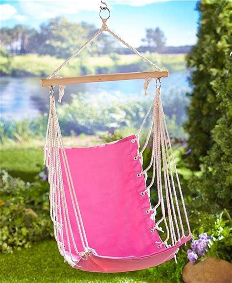 kids swing hammock kids youth hammock swing chair carry bag pink or green
