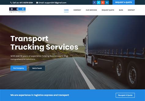 wordpress theme different page layout 10 best new logistics and transport wordpress themes 2017