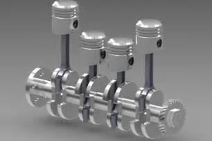 4 Cylinder Engine 4 Cylinder Engine Step Iges 3d Cad Model Grabcad