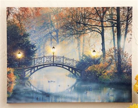 lighted wall tree 40x30cm led luminous tree lighted canvas painting wall