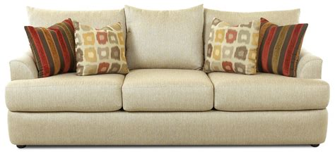 Three Over Three Sofa With Accent Pillows By Klaussner Pillow For Sofa