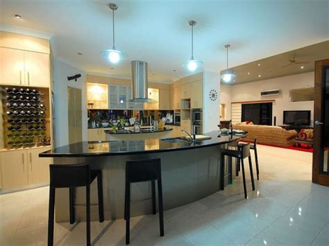 modern kitchen island designs 16 modern kitchen designs with curved kitchen island