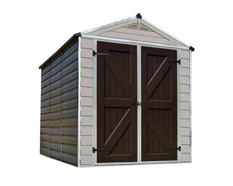 10 x8 plastic sheds with floors palram 6x8 plastic shed kit w skylight roof floor hg9608t