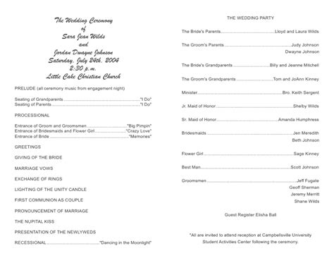Beautiful Wedding Church Program Template Pictures Styles Ideas 2018 Sperr Us Wedding Bulletin Template