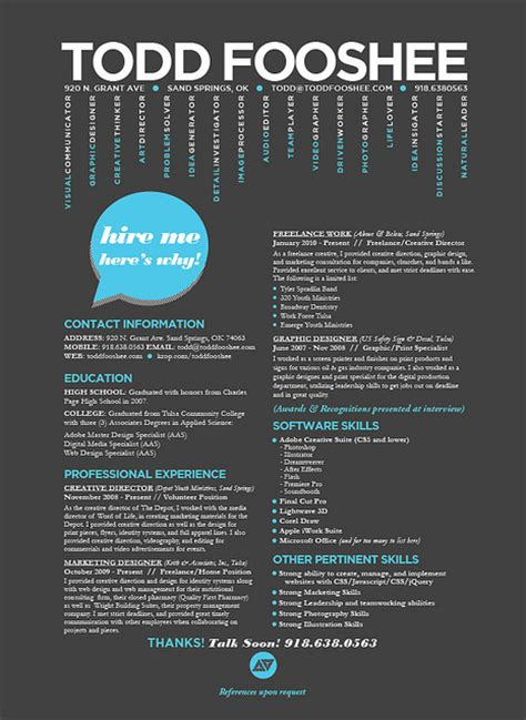 Cool Resume Designs by Resume Inspiration 30 Cool Creative Resume Designs