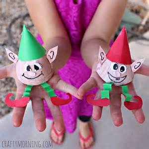 egg carton elves craft for christmas crafty morning