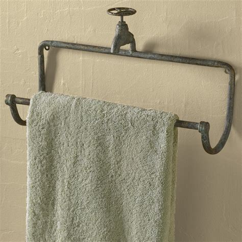 wrought iron bathroom towel bars park designs water faucet towel bar 23694