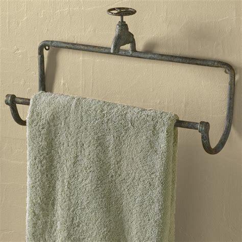 wrought iron bathroom towel bars park designs water faucet towel bar 23694