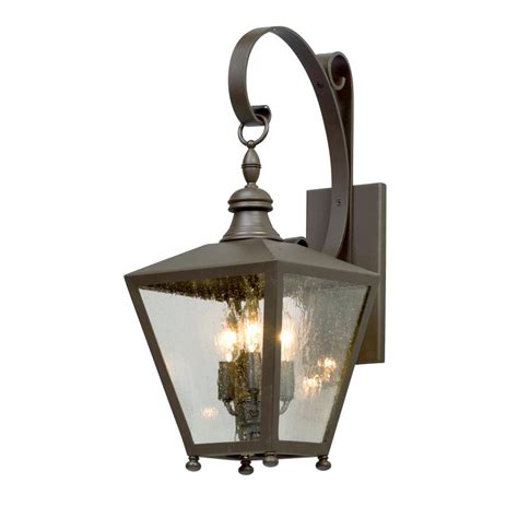 Wall Mount Sconces troy lighting mumford 3 light bronze outdoor wall mount sconce b5192 the home depot