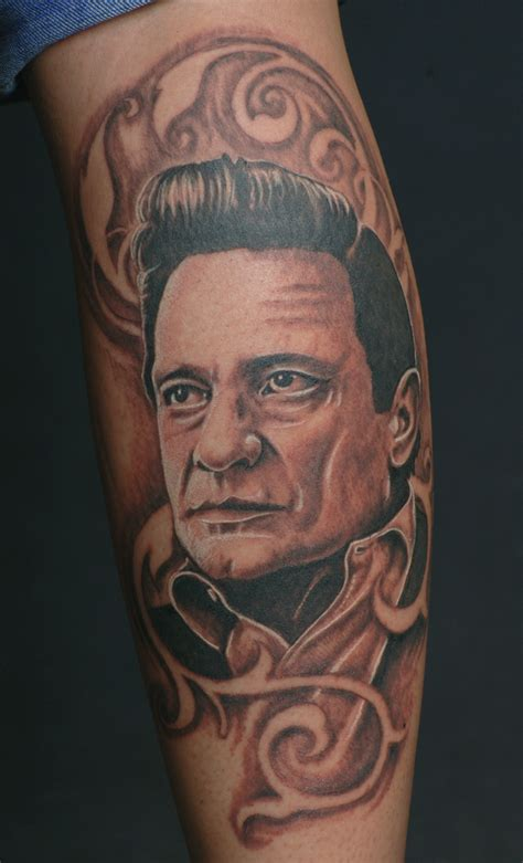 johnny cash tattoo designs johnny portrait by catbones on deviantart