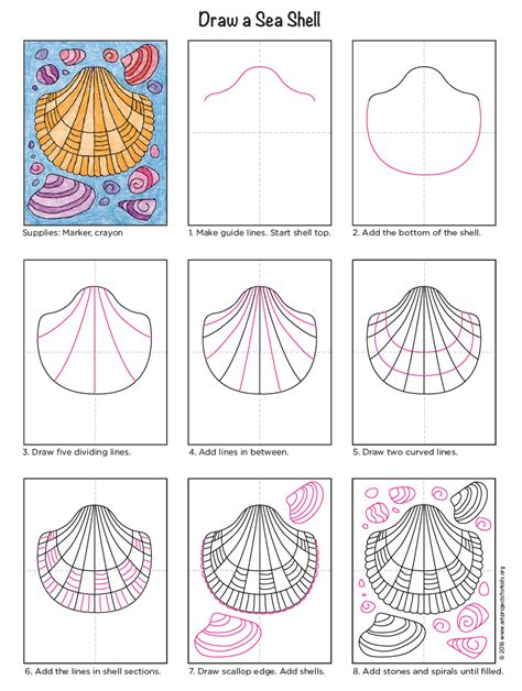 sea diagram how to draw a sea shell projects for bloglovin