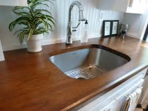custom hickory wood countertops craftsman kitchen