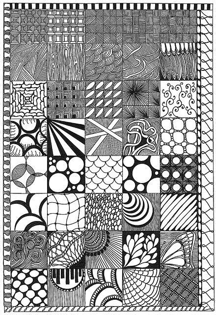 Zen Of Design Patterns | zentangle patterns art zentangle pinterest patterns