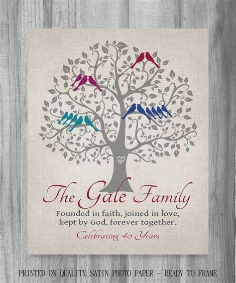 Grandparents Anniversary Gift 40 Years Family   Wedding