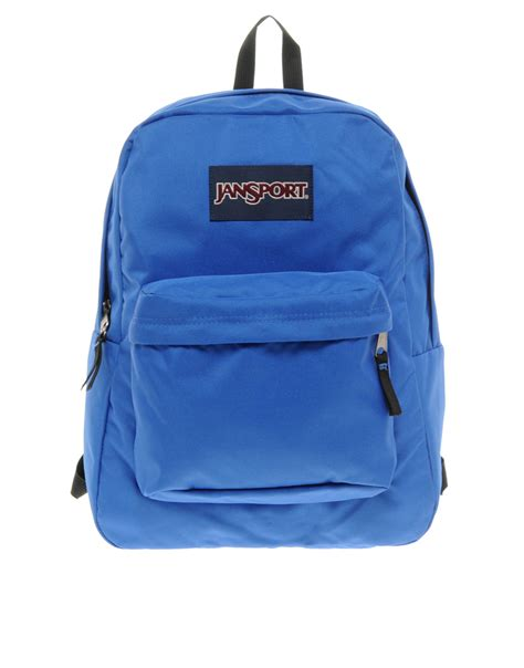 jansport superbreak backpack in blue for men lyst