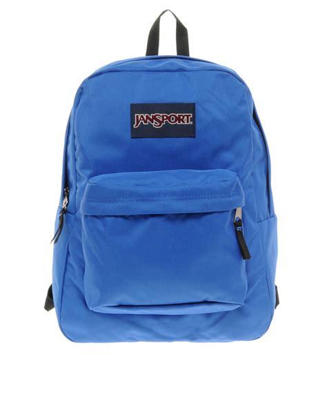 Ransel Bag Jansport Blue lyst jansport superbreak backpack in blue for