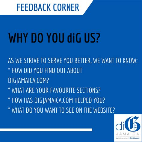 Why Does Dig At The by Feedback Corner Why Do You Dig Us Digjamaica