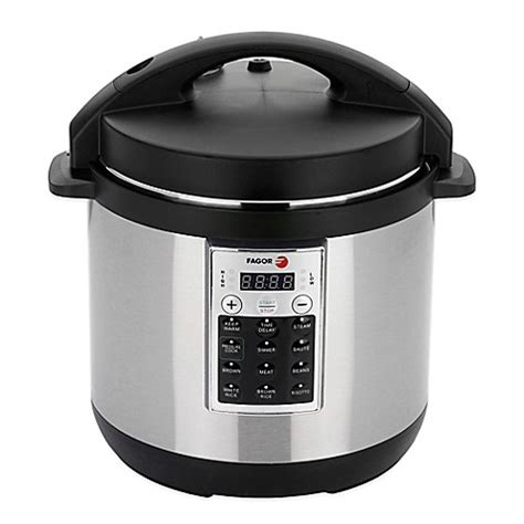 pressure cooker bed bath and beyond fagor premium 6 qt electric pressure cooker and rice