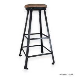 32 Inch Bar Stool Vintage Solid Oak Metal Work Bar Stool 32 Inch Ebay
