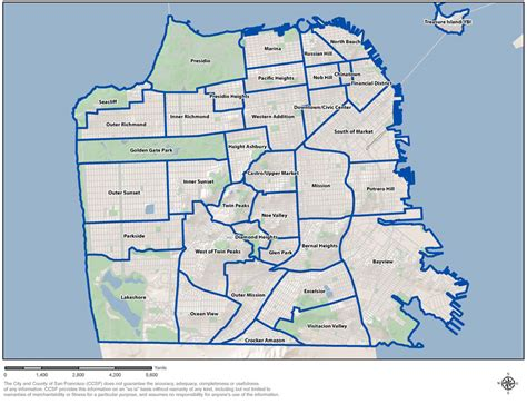 san francisco map by district san francisco maps images
