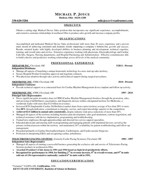 Sles Of Resume Objectives by Sales Representative Resume Keywords Free Sle Resumes