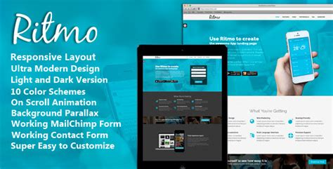 mobile pages ritmo mobile app landing page html5 template by