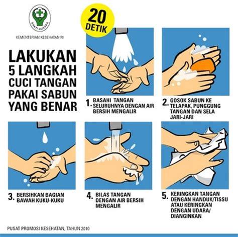 kegunaan layout presentasi manfaat mencuci tangan dengan air bersih dan sabun