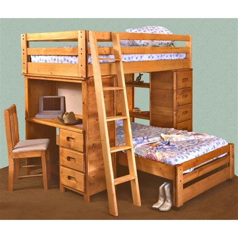 bunk bed with built in desk trendwood bunkhouse twin twin bronco loft bed with built