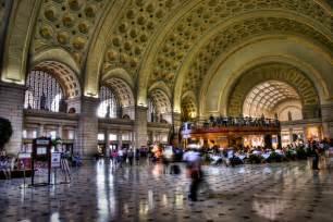 Interior Of Amtrak Train Union Station Washington D C Public Building In