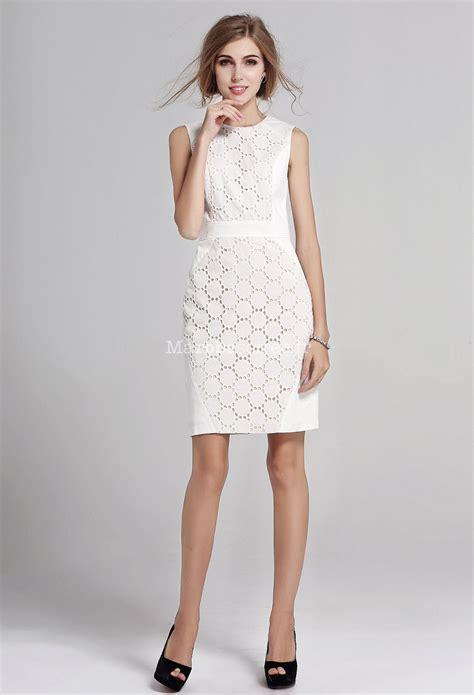 Robe De Cocktail Blanche - robe de cocktail blanche dentelle genoux