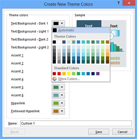 excel color themes 2013 jfn excel accounting tips customize change theme color