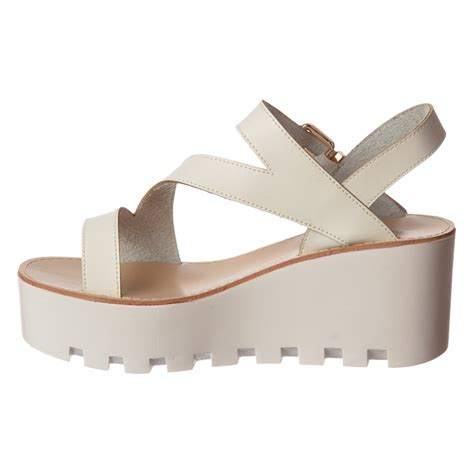 wedge sandals onlineshoe cleated sole summer low wedge sandals black