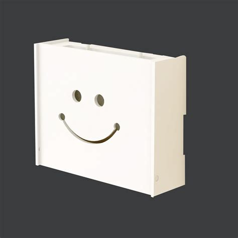 Slipcover Solutions White Wireless Wifi Router Storage Box Wood Shelf Wall