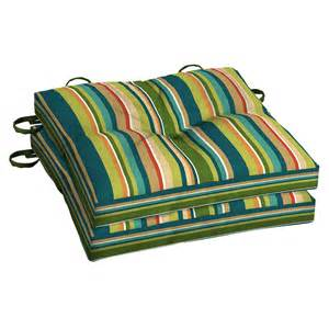 Garden Treasures Bistro Chair Shop Garden Treasures Bloomery Stripe Seat Pad For Bistro Chair At Lowes