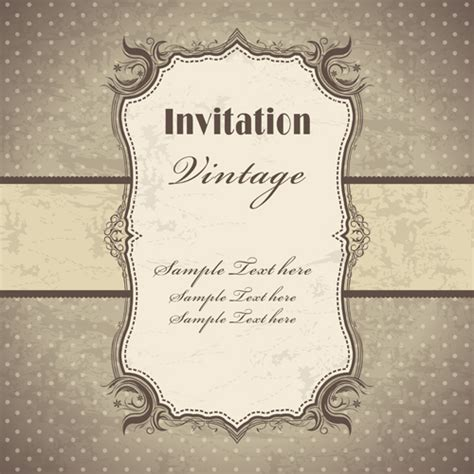 free vintage templates vintage pattern elements background vector 05