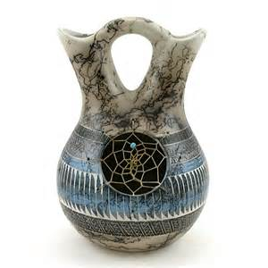 Native American Wedding Vases Native American Horsehair Indian Pottery Wedding Vase By