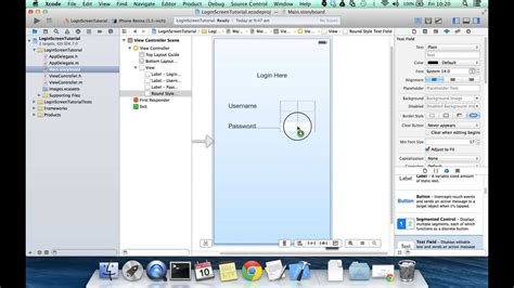 game tutorial xcode 7 ios login screen tutorial xcode 5 ios 7 create login