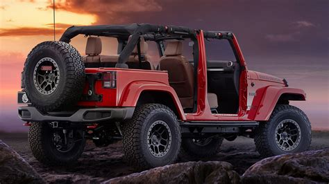 red jeep wallpaper jeep wrangler red rock concept 2015 wallpapers and hd