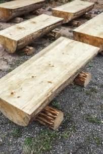 how to make a split log bench 15 cr 233 ations diy pour le jardin 224 partir de rondins de bois