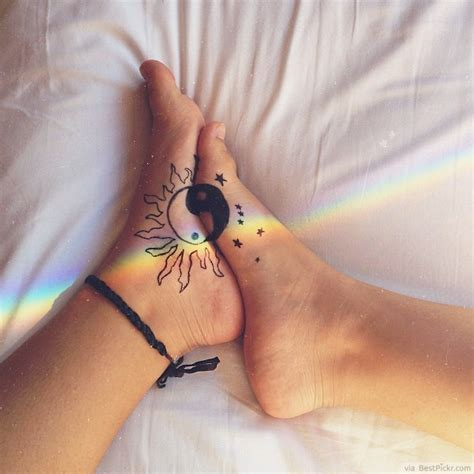 sun and moon tattoo for couples 30 cool yin yang tattoos perfect designs ideas bestpickr