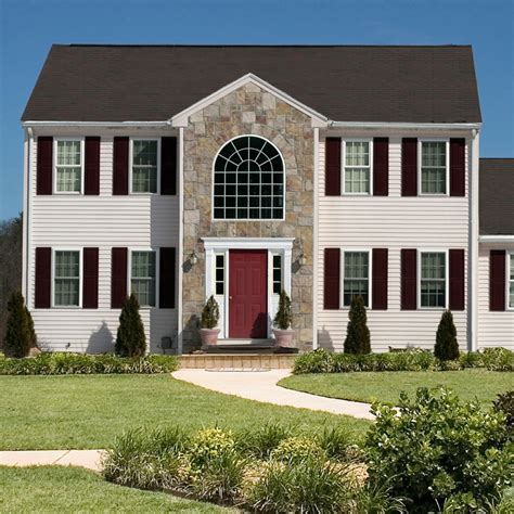 House Shutters Colonial With Legends Vinyl Louver Shutters