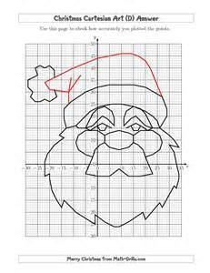 The christmas cartesian art santa d christmas math worksheet