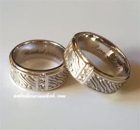 Cincin Emas Putih Mata Dan Keliling Berlian Eropa cincin kawin batik kiandra