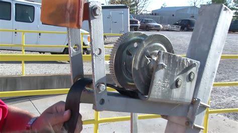 jon boat trailer winch mount trailer winch strap replacement youtube